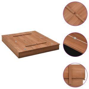 Caixa de areia 95x90x15 cm madeira de abeto - PORTES GRÁTIS