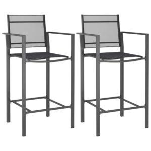 Cadeiras de bar 2 pcs textilene antracite - PORTES GRÁTIS