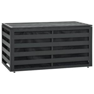 Caixa de arrumação para jardim 100x50x50 cm alumínio antracite - PORTES GRÁTIS