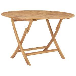 Mesa de jardim dobrável Ø 120 cm madeira de teca maciça - PORTES GRÁTIS