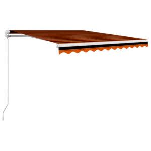 Toldo retrátil manual 300x250 cm laranja e castanho - PORTES GRÁTIS