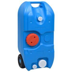 Tanque de água com rodas para campismo 40 L azul - PORTES GRÁTIS