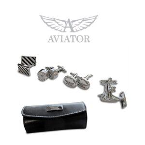 Conjunto Aviator® AVJ3816 | 4 Pares de Botões de Punho
