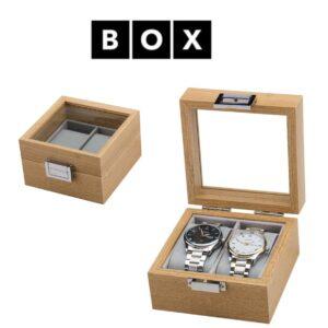 Caixa de Arrumação para 2 Relógios | Acabamento Premium | Madeira | PDMDF02
