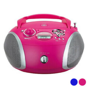 Rádio CD MP3 Grundig GDP6310 CD-R/CD-RW FM USB 3W Cor de Rosa