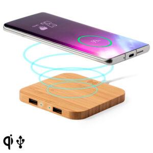 Carregador Sem Fios para Smartphones Qi Bambu 146542 Natural