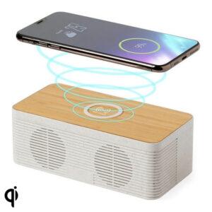 Coluna Bluetooth com Carregador Sem Fios 5W Bluetooth 146546 Natural