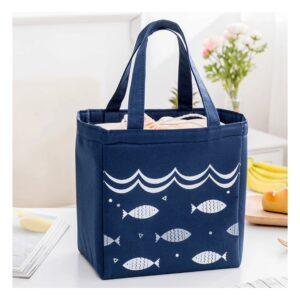 Bolsa Térmica Blue Fish - Transporte Alimentos em Segurança , Independentemente da Temperatura Ambiente