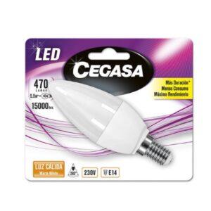 Lâmpada LED vela Cegasa E14 5,5 W A+