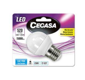 Lâmpada LED esférica Cegasa E27 5,5 W A+