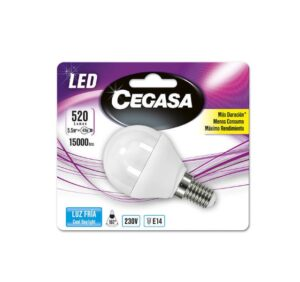 Lâmpada LED esférica Cegasa E14 5,5 W A+