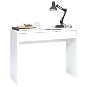 FMD Secretária com gaveta ampla 100x40x80 cm branco - PORTES GRÁTIS