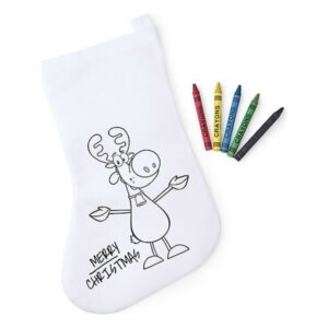 Meia de Natal para Colorir 145141 Branco