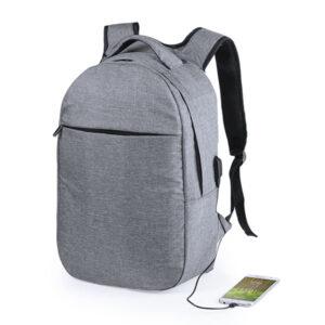 Mochila para Portátil e Tablet com Saída USB RFID 146215 Cinzento
