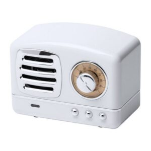 Altifalante Bluetooth 3W Vintage Branco
