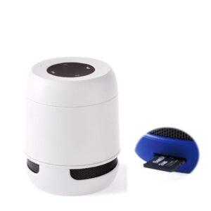 Altifalante Bluetooth - Cartões de Memória - Bateria de lítio Recarregável 3W USB Branco