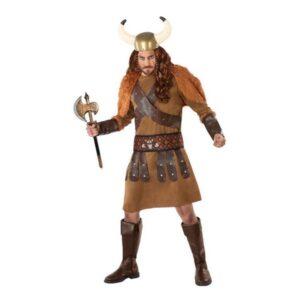 Fantasia para Adultos 113985 Viking homem Castanho (3 Pcs) XL