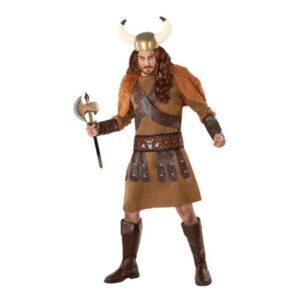 Fantasia para Adultos 113985 Viking homem Castanho (3 Pcs) M/L