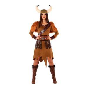 Fantasia para Adultos 114012 Viking mulher Castanho (3 Pcs) XL