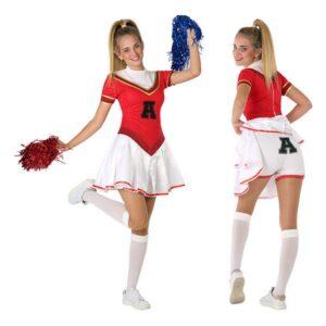Fantasia para Crianças 116283 Animadora Vermelho Branco (Tamanho 14-16 anos)