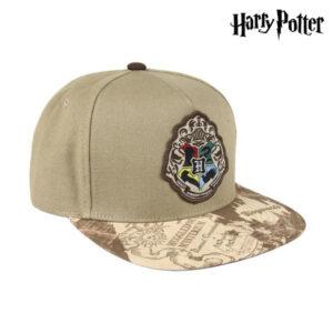 Boné com Viseira Plana Harry Potter 73600 Marrom claro (59 Cm)