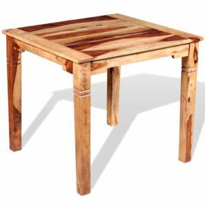 Mesa de jantar em madeira de sheesham maciça 82x80x76 cm - PORTES GRÁTIS