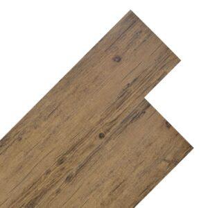 Tábuas de soalho PVC 5,26 m² 2 mm castanho nogueira - PORTES GRÁTIS