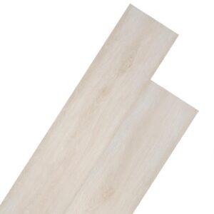 Tábuas de soalho PVC 5,26 m² 2 mm carvalho branco clássico - PORTES GRÁTIS