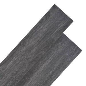 Tábuas de soalho PVC 5,26 m² 2 mm preto e branco - PORTES GRÁTIS