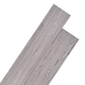 Tábuas de soalho PVC 5,26 m² 2 mm cinzento escuro - PORTES GRÁTIS