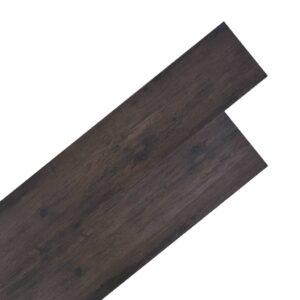 Tábuas de soalho PVC 5,26 m² 2 mm carvalho cinzento escuro - PORTES GRÁTIS