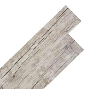 Tábuas de soalho PVC auto-adesivo 5,02 m² 2 mm carvalho caiado - PORTES GRÁTIS