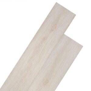 Tábuas soalho PVC auto-adesivo 5,02 m² 2 mm carvalho branco - PORTES GRÁTIS