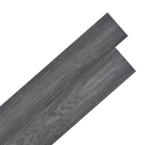 Tábuas de soalho PVC auto-adesivo 5,02 m² 2 mm preto e branco - PORTES GRÁTIS