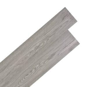 Tábuas de soalho PVC auto-adesivo 5,02 m² 2 mm cinzento escuro - PORTES GRÁTIS