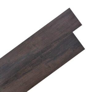Tábuas de soalho PVC auto-adesivo 5,02m² 2 mm castanho escuro  - PORTES GRÁTIS
