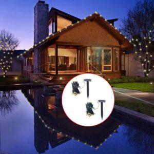 Iluminação de Natal LED Energia Solar 200 Lampadas Branco Quente - PORTES GRÁTIS