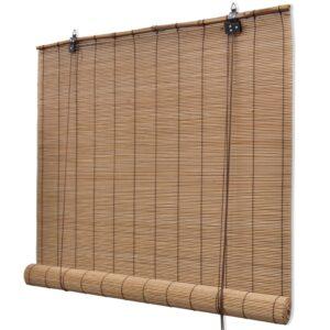 Estore/persiana em bambu 80x220 cm castanho - PORTES GRÁTIS