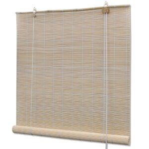 Estore/persiana em bambu 100x220 cm natural - PORTES GRÁTIS