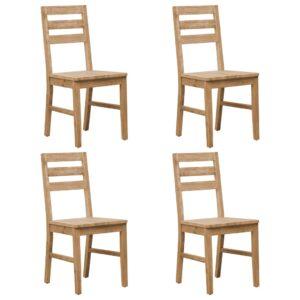 Cadeiras de jantar 4 pcs madeira de acácia maciça - PORTES GRÁTIS