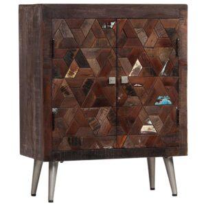 Aparador de madeira reciclada maciça 60x30x76 cm - PORTES GRÁTIS