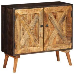 Aparador em madeira de mangueira maciça 85x30x75 cm - PORTES GRÁTIS