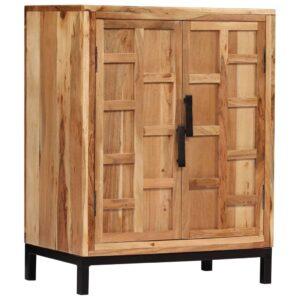 Aparador em madeira de acácia maciça 60x35x76 cm castanho - PORTES GRÁTIS