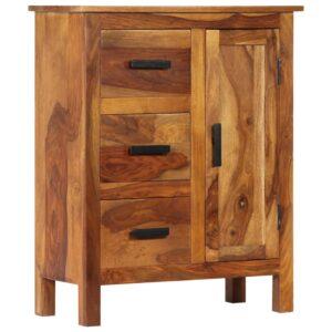 Aparador em madeira de sheesham maciça 65x30x80 cm - PORTES GRÁTIS