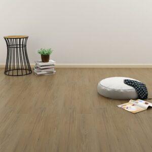 Tábuas de soalho auto-adesivas 4,46 m² 3mm PVC castanho natural  - PORTES GRÁTIS