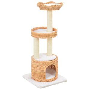 Árvore para gatos c/ postes arranhadores madeira de salgueiro - PORTES GRÁTIS
