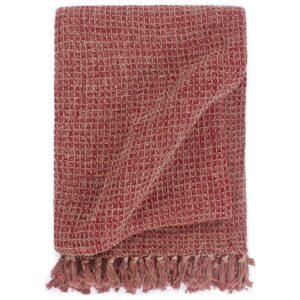 Manta em algodão 160x210 cm bordô - PORTES GRÁTIS