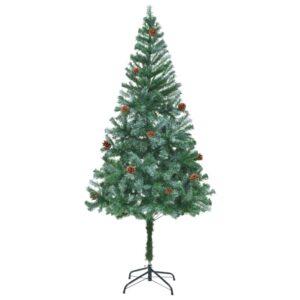 Árvore de Natal artificial com pinhas 180 cm - PORTES GRÁTIS
