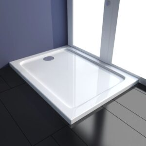 Base de chuveiro retangular ABS 80 x 100 cm - PORTES GRÁTIS