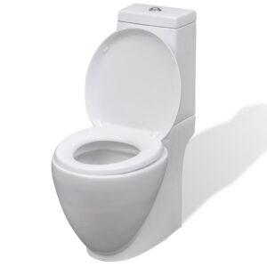 Sanita WC redonda cerâmica branco  - PORTES GRÁTIS